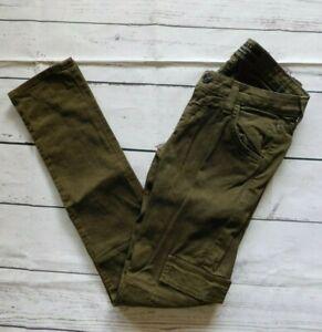 Hudson Olive Green Military Flap Pocket Cargo Skinny Jeans - Size 24