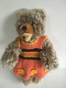 """*Vintage Steiff Zotty teddy bear mohair 50s-60s growler glass eyes 13.7"""" 35cm"""