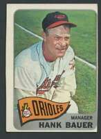 1965 Topps #323 Hank Bauer EX/EX+ Orioles MG 26034