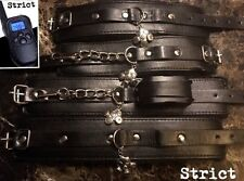 Bondage kit Leather wrist ankle hand cuffs SHOCK restraints high quality
