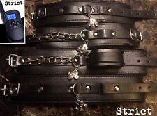 Bondage kit hand cuffs ankle restraint SHOCK strict dungeon restraints