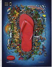 "Havaianas magazine print ad page clipping flip flop sandal ""island"" Brazil 2014"