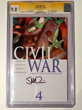 2 BOOKS! Civil War 4 + 4 cgc 9.8 Variant Thor and SSx1