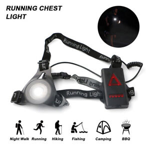 Night Outdoor Running Jogging Chest LED Lamp Warning Torch Safety Flash Lights