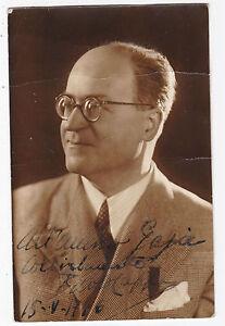 FOTO SU CARTOLINA DI PAOLO CAPPA 1946 MINISTRO DELLA MARINA POLITICO 11-343TRIS