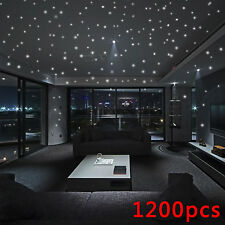 1200x Luminous Glow In The Dark Star Round Dot Wall Stickers Home Ceiling Decor