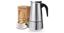 Cafetière italienne induction Godmorn Moka en inox 6 tasses (300ml)
