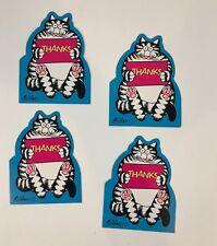 Vintage Kliban Cat Thank You Card Hallmark Epherma1987