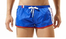 Men's Large Royal Blue Sexy Nylon Sports Running Shorts Beachwear Swimwear UK