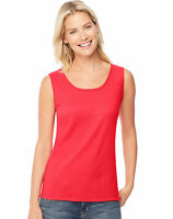 Hanes Ribbed Tank Top Women's Mini Cotton Shirt 100% pure cotton Wide Straps