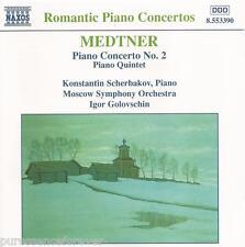 MEDTNER - Piano Concerto No. 2/Piano Quintet (Moscow SO) (EU 6 Tk CD Album)