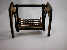 "Dollhouse Miniature 1/6"" Scale Swing Set  For Yard  or Garden Play #Z236"