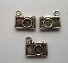 wholesale 25 pcs alloy Tibetan silver camera charm pendant 12x13 mm