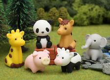 IWAKO Zoo Take-Apart 6 Animals Rubber Erasers Set