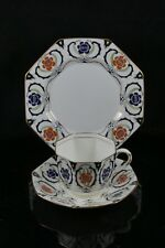 Stunning Delphine China Art Deco Octagonal Trio Cup Saucer Plate