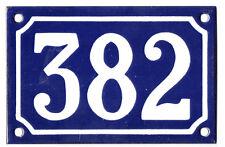 Blu Francese numero di casa 382 cancello piatto placca smaltata acciaio