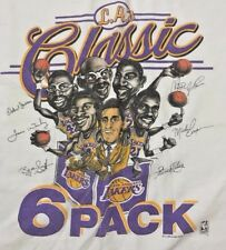 1987 Lakers SIX PACK T-Shirt Mens XL Classic Vintage Los Angeles SALEM Tee HTF