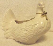 """VINTAGE PLANTERS--WHITE ROYAL PIGEON PLANTER--7"""" TALL--VERY NICE--GREAT PATINA"""