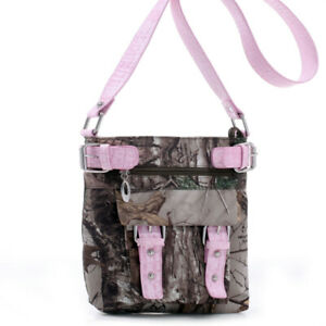 Realtree Xtra Pink Camo Cross Body Purse Handbag, Crossbody