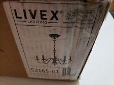 Livex Lighting-52165-01-Windsor - Five Light Chandelier  Antique Brass