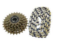 Suntour 6 speed freewheel & Chain Combo Accushift α Vintage Bicycle 14-28 NOS