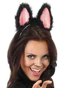 Moving Cat Ears Black Kitty Animal Fancy Dress Up Halloween Costume Accessory