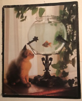 """New Cat Kitten Feline Face /& Pawprints I Decorate with Cats 4/"""" Wood SIGN Plaque"""