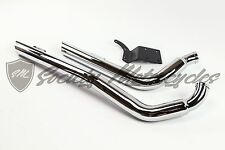 "2.25"" DYNA 1991-2016 Harley-Davidson Drag Exhaust System Straight Pipes 2-1/4"""