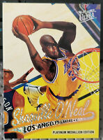 1996-97 Fleer Ultra Shaquille O'Neal Platinum Medallion Edition Lakers