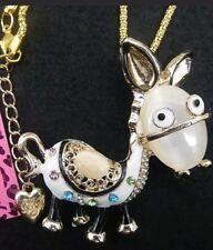 Betsey Johnson Crystal Long Pendant Necklace