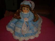 "Handmade 7"" Yarn Doll With Hat"