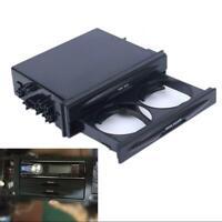 Universal Car Auto Double Din Dash Trim Radio Pocket Kit Drink Cup Holder Storag