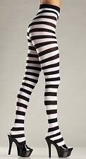 Striped Tights Black and White Tights 679 BeWicked Tights Wide Stripes Halloween