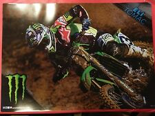 "Eli Tomac Poster "" Kawasaki Dirt Bike "" - MONSTER ENERGY Double Sided Poster"