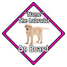 Personalised Dog On Board Car Safety Sign ?  Blonde Labrador On Board (Pink)