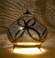 Handmade Moroccan small Brass Dome Shaped Table Lamp