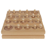 Kids Montessori Toy - Knobbed Cylinder Blocks Hand-Eye Coordination Training