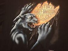 Vintage Harley Davidson T Shirt XL, New, 3D Emblem 1991~Panther Scratch