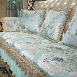 High Density Lace Sofa Cover 1/2/3 Seater Slipcovers Couch Recliner Protector