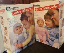 Gerber Talking Baby Boy Girl Twin Doll Set Growing Toys Toy Biz Advertising Doll