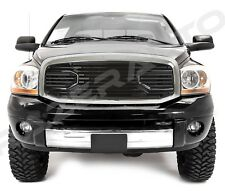 Front Black Big Horn Grille+Replacement Chrome Shell for 06-09 Dodge RAM 2500+35