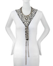 Haute Hippie Bullet Chain Necklace Choker Embellished Large beaded $575 Size S