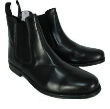 CLIFFORD JAMES Black Leather Chelsea Boots Mens UK 8 EU 42