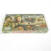 Vintage 1963 Combat Board Game ABC TV Show Fighting Infantry Ideal Toy COMPLETE