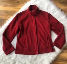 BMW Motorsports Full Zip Fleece Jacket Red Embroidered Logo Lightweight Medium