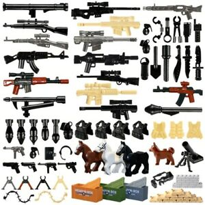 Military Swat Weapon Building Blocks Guns Pack City Police Soldier Builder Toys