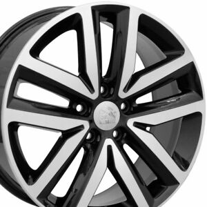 "18"" Rim Fits Volkswagen VW Jetta VW27 Black w/Mach'd Face 18x7.5 Wheel"
