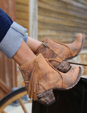 BL1116-13 OLD GRINGO 'ADELA' OCHRE LEOPARDITO LEATHER ANKLE BOOT  US 7.5