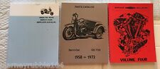 Harley Servicar Parts & Service Manual Combo & Shop Dope IV 1958-73 Book Catalog