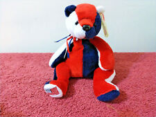 """Ty Beanie Baby """"Patriot"""" the Red, White & Blue Cuddly Teddy"""